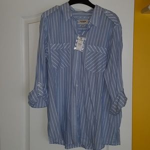 Express Boyfriend Shirt, XL
